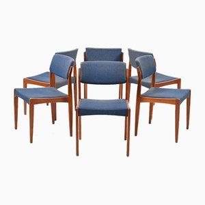 Esszimmerstühle mit Gestell aus Teak von Henry W. Klein für Bramin, 1960er, 6er Set