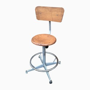 Vintage Industrial Workshop Stool, 1960s