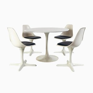 Space Age Dining Room Set by Maurice Burke for Arkana, 1969
