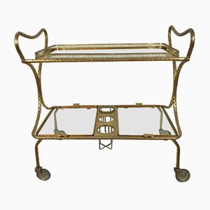 Mid-Century Italian Brass Drinks Trolley by Pier Luigi Colli