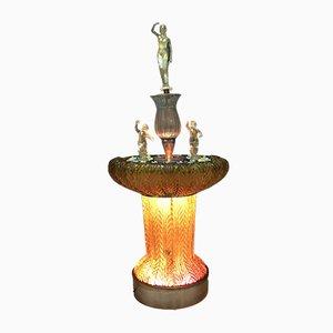 Hollywood Regency Brunnen aus Muranoglas von Ferro & Lazzarini, 1970er
