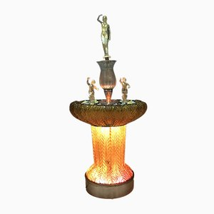 Hollywood Regency Murano Glass Fountain from Ferro & Lazzarini, 1970s