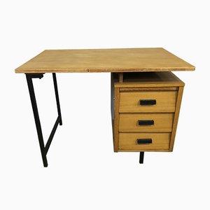 Französischer Mid-Century Schreibtisch aus Eiche