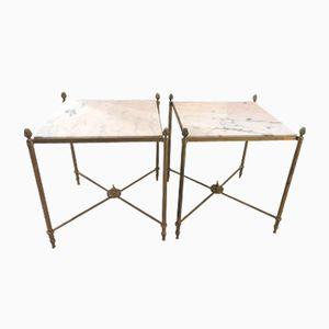 Tavolini in ottone di Maison Jansen, anni '50, set di 2