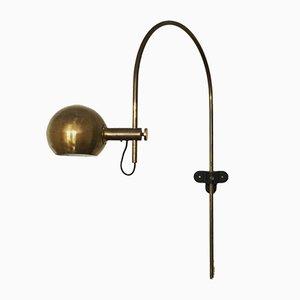 Wandmontierte Vintage Bogenlampe aus Messing von Cosack, 1960er