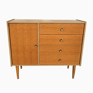 Vintage Modernist Light Oak Chest of Drawers, 1950s