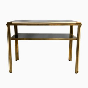 Vintage Italian Brass Console Table, 1970s