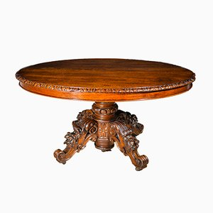 Large Extendable Oval Louis Philippe Table, 1840s