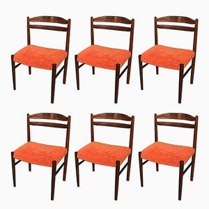 Dänische Vintage Stühle aus Palisander, 1950er, 6er Set