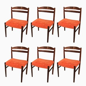 Vintage Danish Rosewood Chairs, 1950s, Set of 6