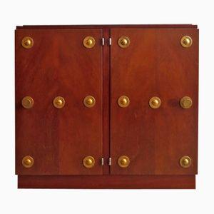 Art Deco Nachtkästchen aus Holz & Messing