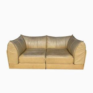 Sofá vintage de cuero de De Sede, años 70