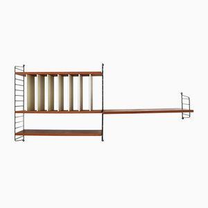 Regalsystem mit LP-Trennwänden von Kajsa & Nils Nisse Strinning für String, 1950er