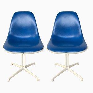 Sillas de comedor de Charles & Ray Eames para Herman Miller, años 60. Juego de 2