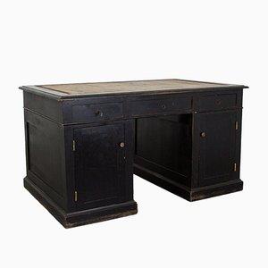 Schwarzer Schreibtisch mit Schubladen, 19. Jh.