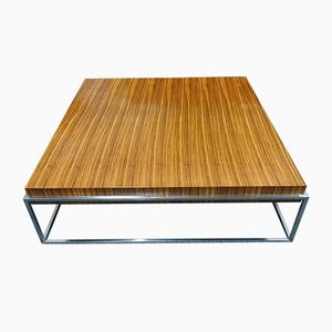 Mid-Century Rosewood & Chrome Coffee Table, 1960s
