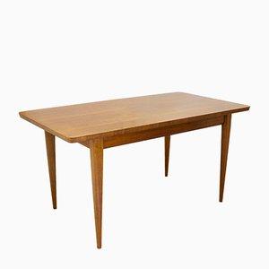 Mesa de comedor Mid-Century de teca y madera de arce de Maple & Co., años 60