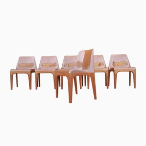 Vintage Chairs by Albert Brokopp for WeSiFa, 1974, Set of 6