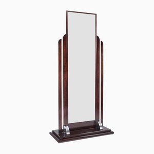 French Art Deco Standing Mirror, 1930s