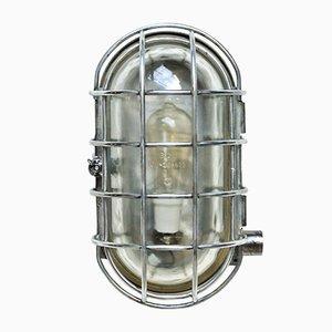 Große ovale Wandlampe mit Drahtgitter, 1950er