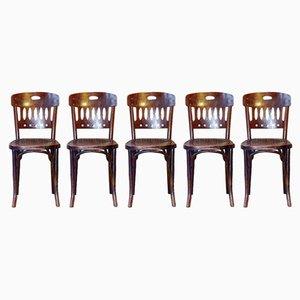 Chaises de Bistrot Nr. 380 en Hêtre de Jacob & Josef Kohn, 1910s, Set de 5