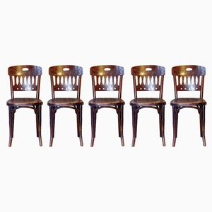 Nr. 380 Beech Bistro Chairs from Jacob & Josef Kohn, 1910s, Set of 5