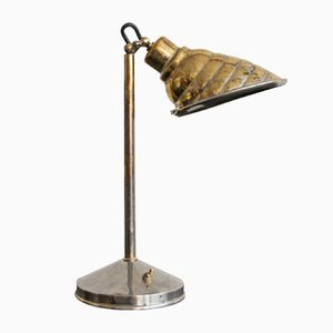 Vintage Brass Table Lamp, 1940s