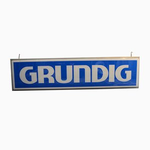 Illuminated Grundig Sign, 1970s