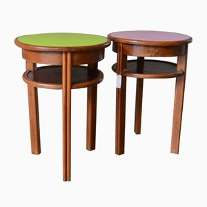 Small Bistro Tables, 1950s, Set of 2