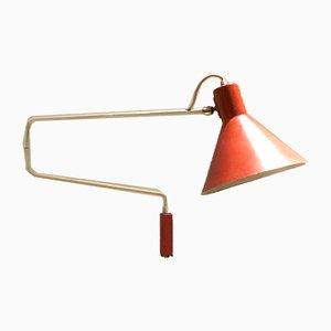 Lámpara de pared vintage de J.J.M. Hoogervorst para Anvia, años 50