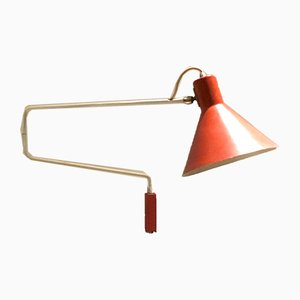 Vintage Elbow Wall Light by J.J.M. Hoogervorst for Anvia, 1950s