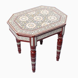 Egyptian Style Mosaic Inlay Side Table, 1970s