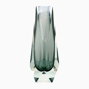 Große Sommerso Vase aus Muranoglas von Luigi Mandruzzato, 1964