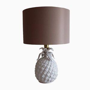 Lámpara de mesa italiana en forma de piña de cerámica, años 60