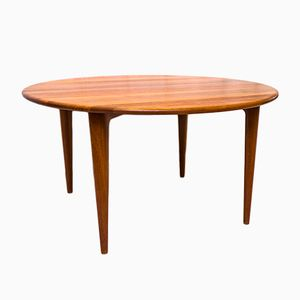 Tavolino da caffè rotondo in teak massiccio di Mikal Laursen, anni '60