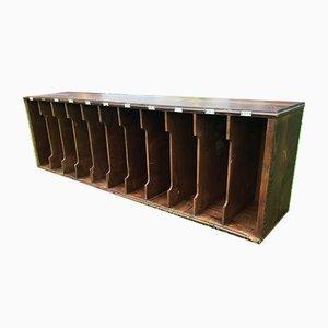 Taquilla española vintage de madera