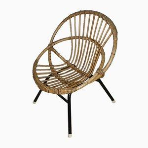 Chaise pour Enfant en Rotin de Rohé Noordwolde, 1960s