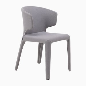 367 Hola Grey Fabric Chairs by Hannes Wettstein for Cassina, 2000s, Set of 8