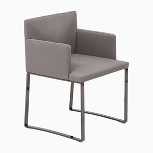 Flynt Grey Wool Armchairs by Rodolfo Dordoni for Minotti, 1990s, Set of 2