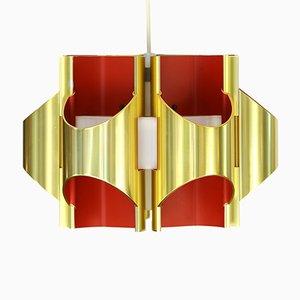 Lampe à Suspension Vintage par Bent Karlby pour Lyfa, Danemark, 1970s