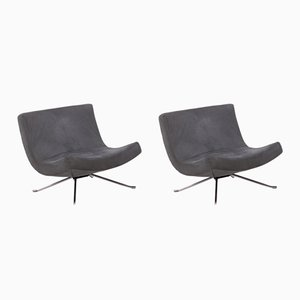 Grey Pop Lounge Chairs by Christian Werner for Ligne Roset, 2002, Set of 2