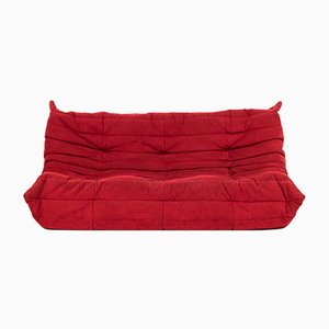 Large Red Togo Sofa by Michel Ducaroy for Ligne Roset, 1970s