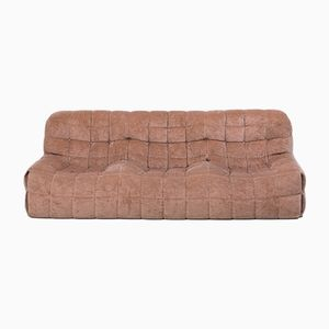 Kashima Pink Velvet 3-Seater Sofa by Michel Ducaroy for Ligne Roset, 1970s
