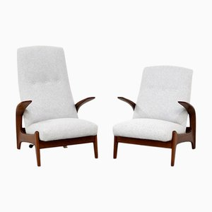 Vintage Lounge Chairs by Rolf Rastad & Adolf Relling for Gimson & Slater, Set of 2