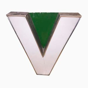 Methacrylate & Metal Letter V, 1970s