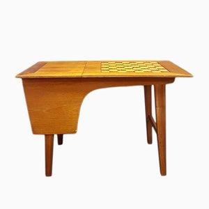 Tavolo da gioco vintage con scacchiera, anni '70