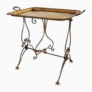 Vintage Italian Brass Side Table, 1950s