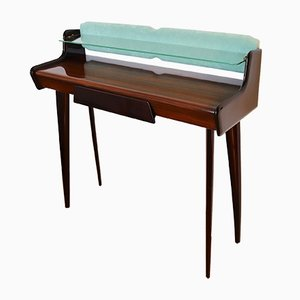 Vintage Italian Mahogany & Maple Console Table, 1950s