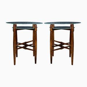Tables d'Appoint Vintage par Poul Hundevad, 1950s, Set de 2