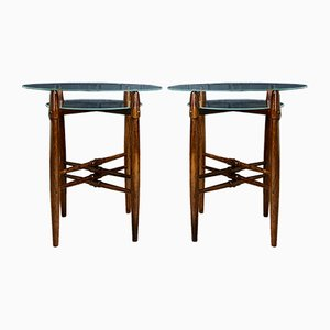 Vintage Side Tables by Poul Hundevad, 1950s, Set of 2